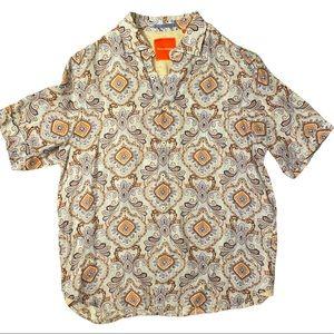 Tommy Bahama 100% Linen Paisley shirt size Large